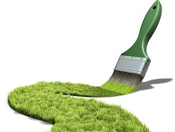 Green eco friendly paint